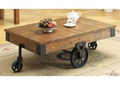 Exceptionnel Wagon Cart Coffee Table With Wheels. Love It For The Family Or Living Room!  #primdecor