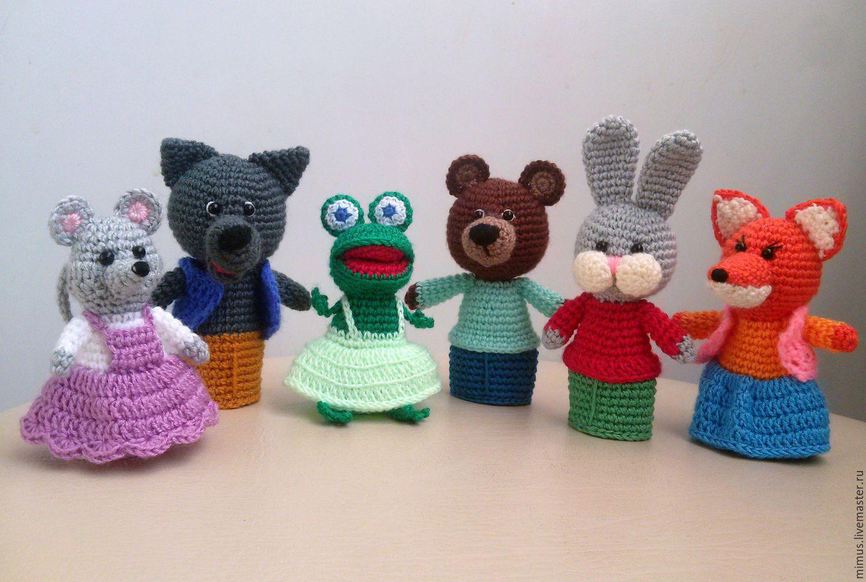 Схемы вязания кукольный пальчиковых театров
