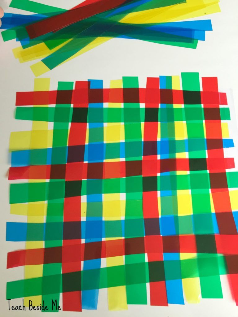 color weaving with transparencies