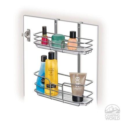Over Cabinet Door Organizer Double Shelf Bathroom