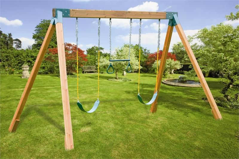 Classic a frame do it yourself cedar swing set hardware for Wooden jungle gym plans