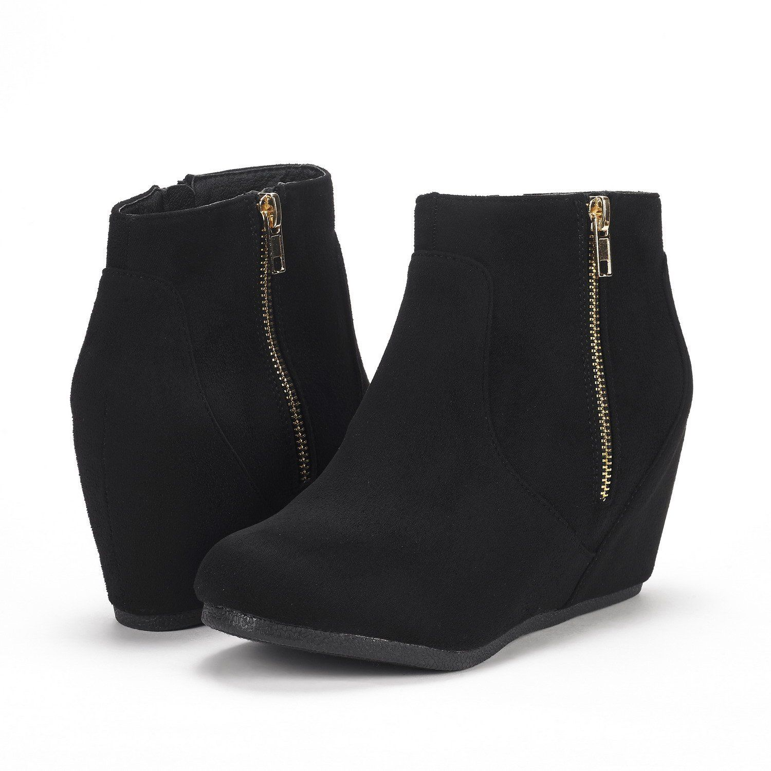 Wedge ankle boots, Wedge boots outfit