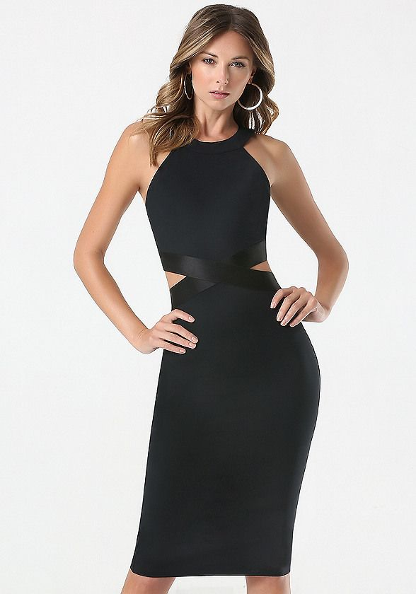 6754c9fb7a3 Cutout Waist Dress - Dresses - Little Black Dresses