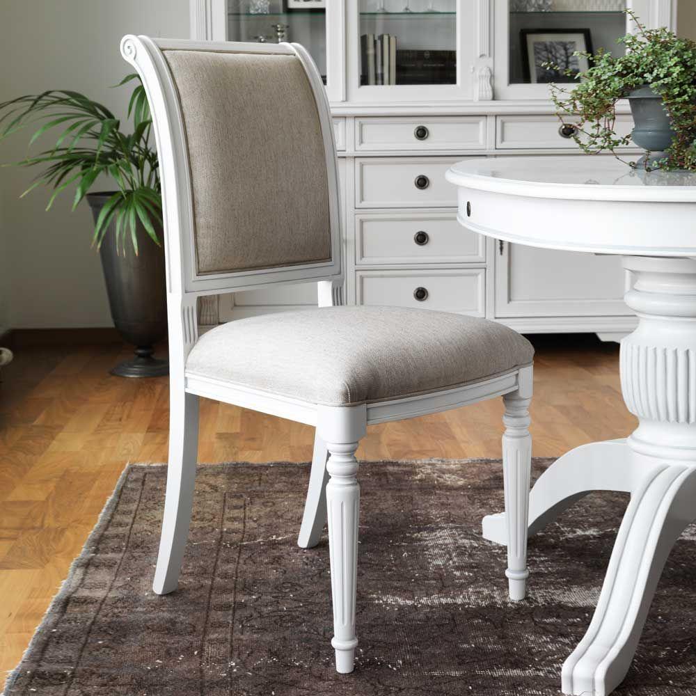Astounding Esstisch Stühle Beige Foto Von Stuhl Set In Weiß Buche Massiv (2er
