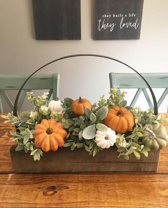 Fall Halloween Season Home Decoration Diy Ideas Fall Halloween Decor Fall Decor Diy Fall Centerpiece