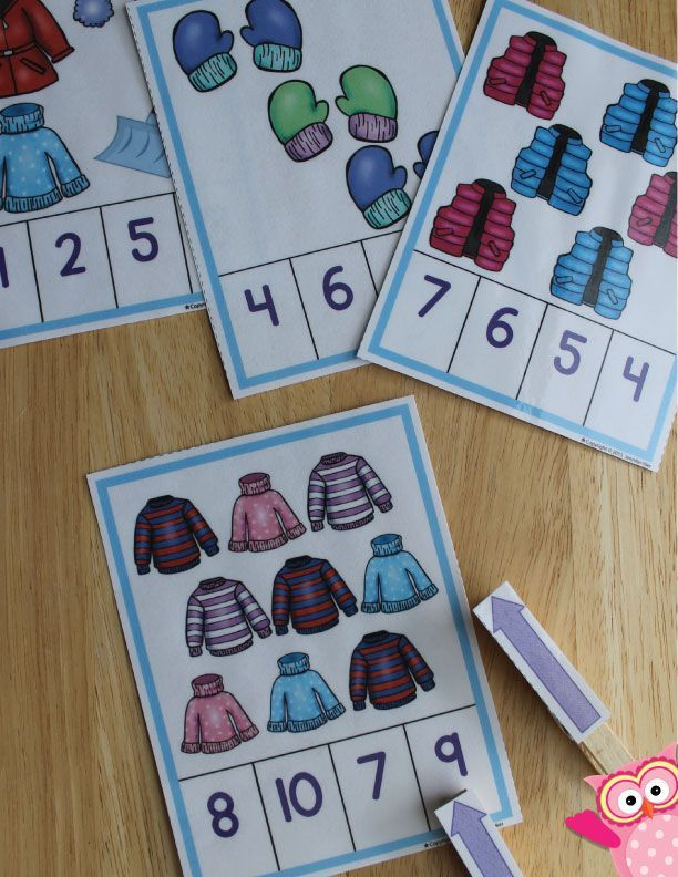 winter math activities for preschool winter counting clip cards powerful pre k preschool. Black Bedroom Furniture Sets. Home Design Ideas