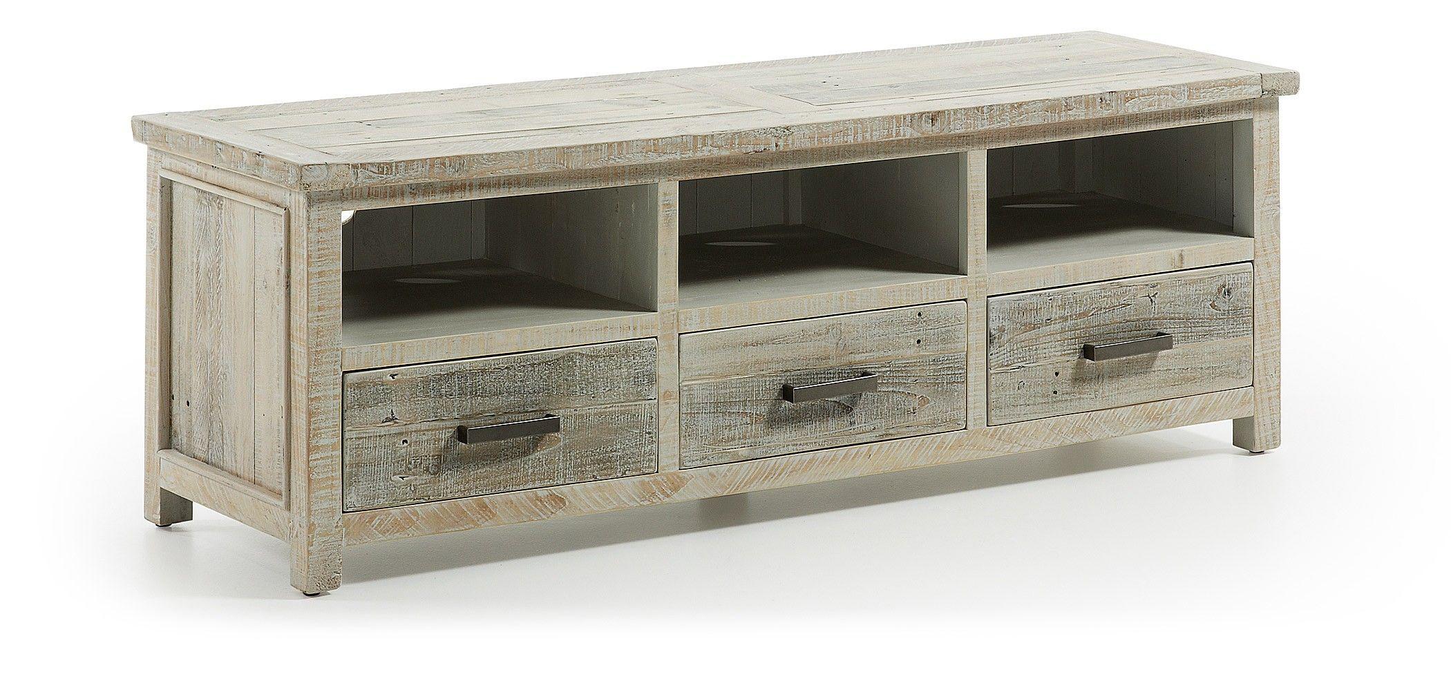 Mueble TV de madera reciclada. Acabado envejecido. 748/H008M03 ...