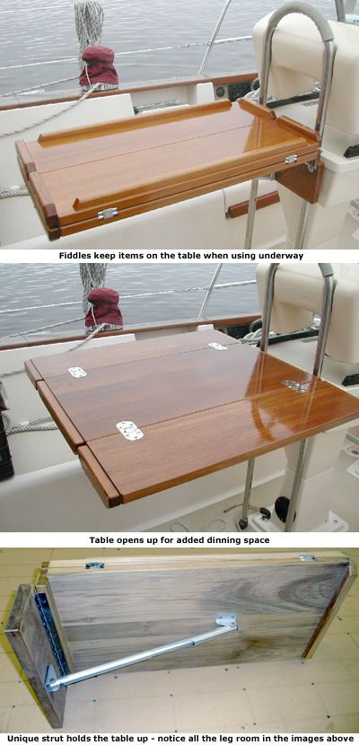 Solid Teak Cockpit Table Sailboat Interior Boat Galley Boat Interior