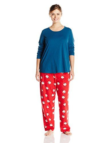 64082642fa Jockey Womens PlusSize Plus Size Microfleece Pajama Set Skiing Birds 1X     Check out this great product.Note It is affiliate link to Amazon.