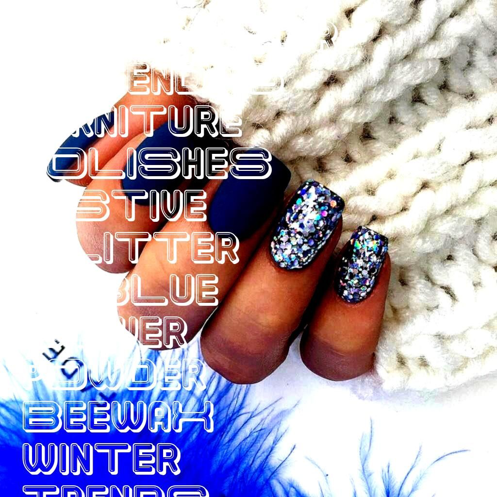 Dip Powder Matte Square Shaped Nails Trends Fall Winter  Blue Sliver Dip Powder Matte Square Shaped Nails Trends Fall Winter   This Beewax not only cleans your wooden fur...