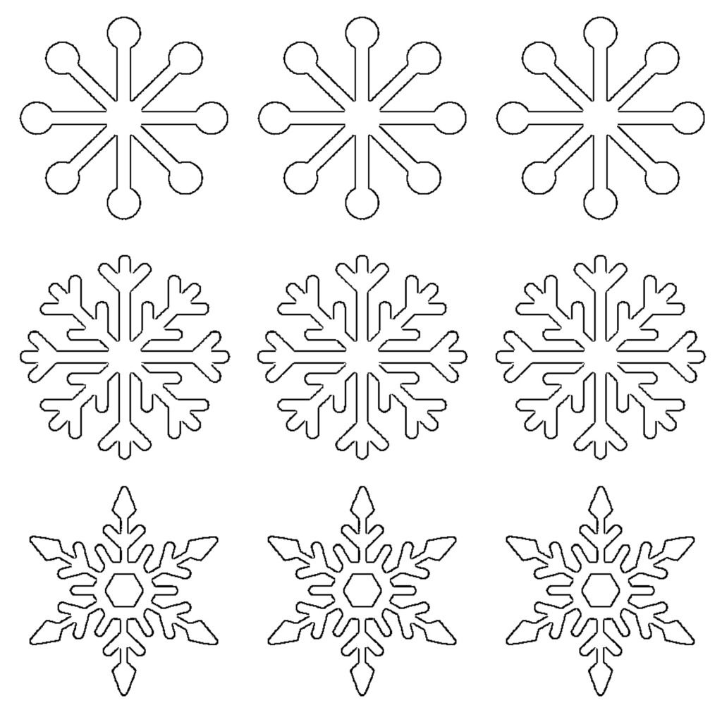 Free printable snowflake templates large small stencil free printable snowflake templates large small stencil patterns pronofoot35fo Images