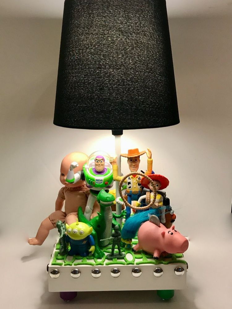 Toy Story Lamp Buzz Lightyear Lamp Toy Story Decor Lightyears Lamp Green Table Runner Building For Kids