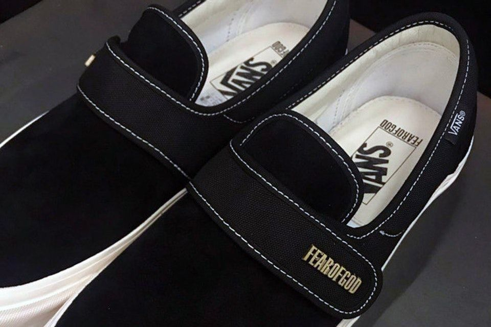 4a7308d4a3f991 Jerry Lorenzo Teases Fear of God x Vans Slip-On Style 147 in Black ...