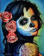 Super Tattoo Girl Gesicht Kunst Tag der Toten 23 Ideen