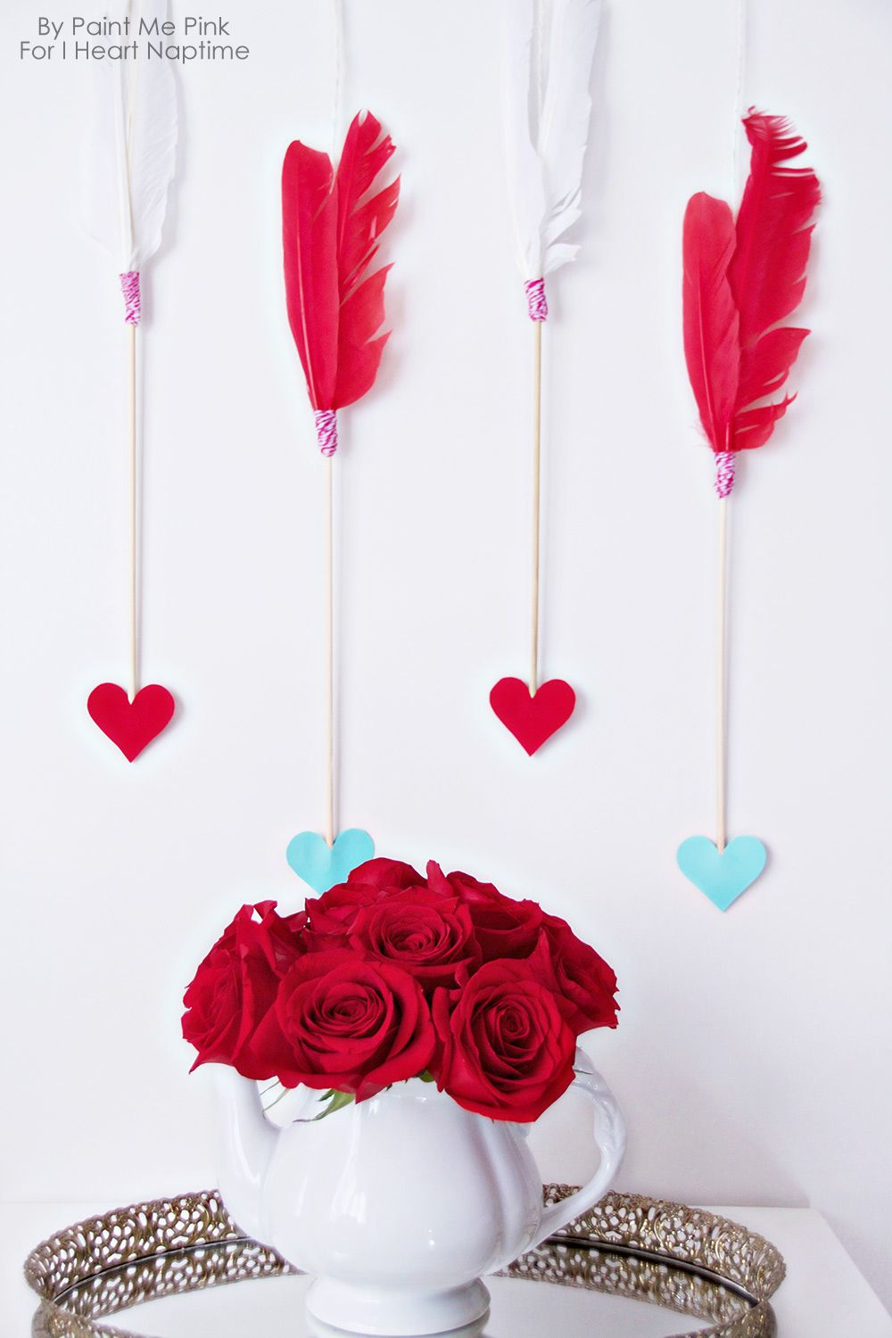 valentines day arrows wall hanging decorate your home this valentines day with this simple arrow - Valentine Decorations To Make