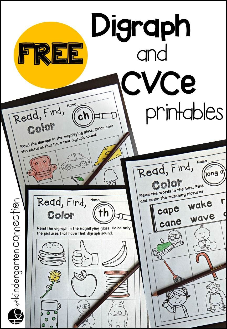 Free Digraph And Cvce Printables Phonics Kindergarten Word Work Kindergarten Kindergarten Reading [ 1248 x 864 Pixel ]