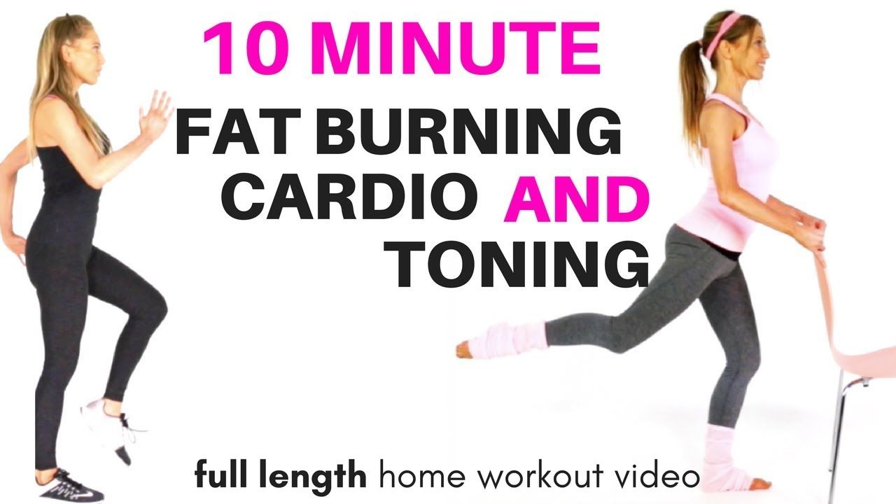 GET IN SHAPE AT HOME - FAT BURNING HOME CARDIO EXERCISE VIDEO - WITH ...