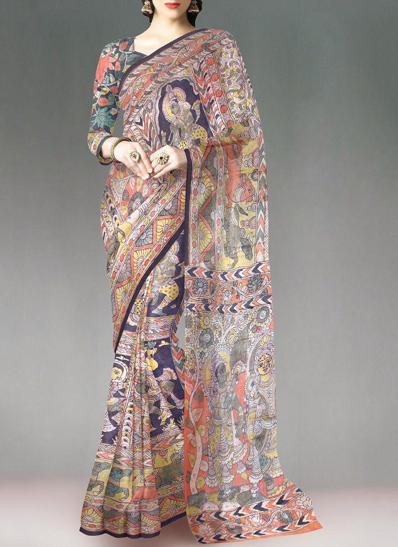 Indian Wear Party Wear Look Saree Sari Designer Bollywood Cotton Silk Saree AG