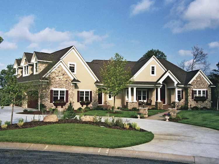 on beautiful one stoey brick houses plans