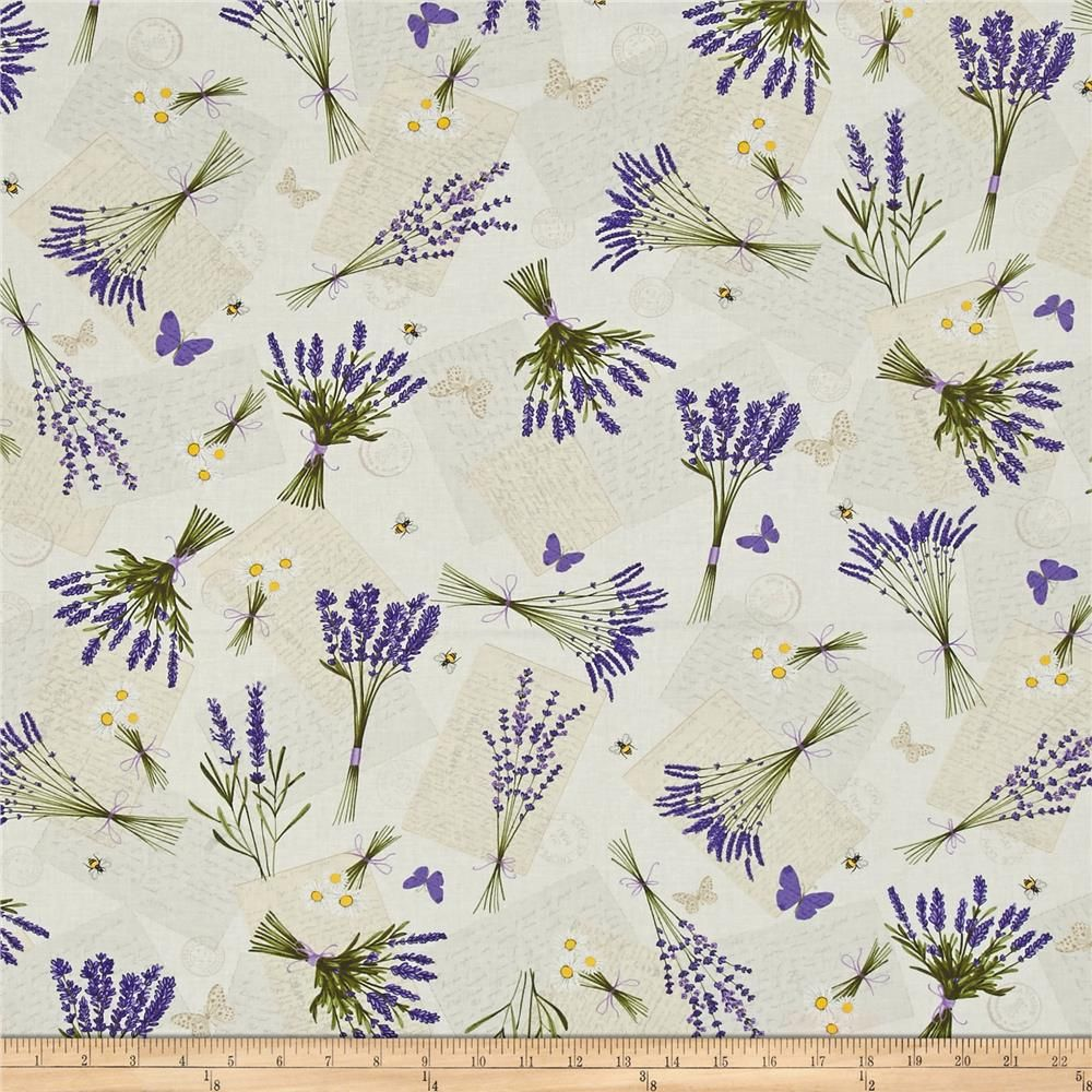 Timeless Treasures Lavender Garden Tossed Lavender Bees Cream From Fabricdotcom From Timeless Treasures This Cotton Print Fa Decoracao Papel Para Impressao