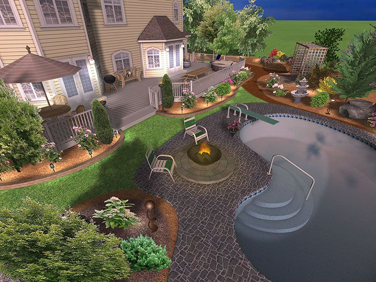 Garden Design Photos | Smart Draw Landscape Design Software Offers You For  Free Some Ideas . Photo Gallery