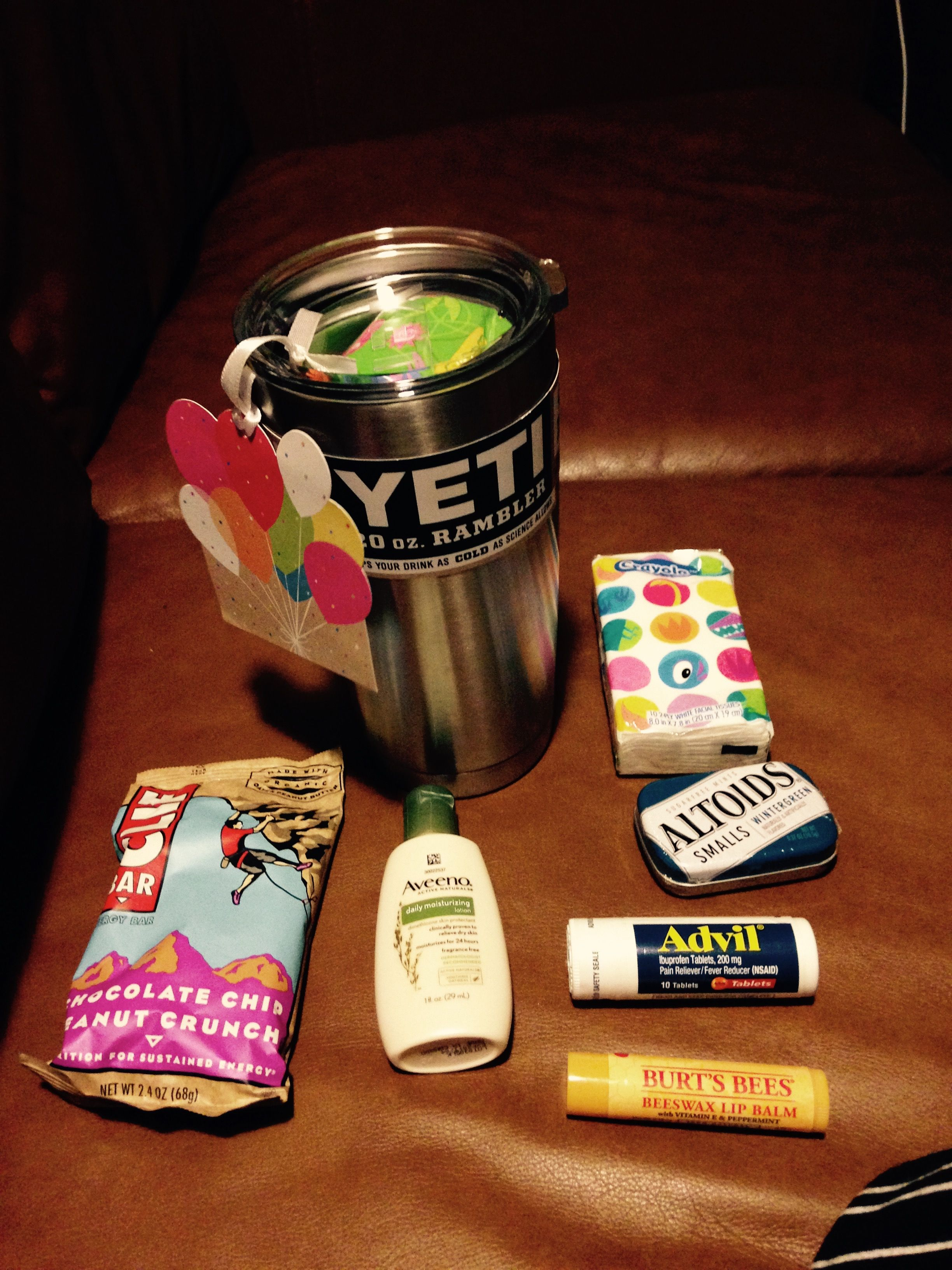 Beginning of Year Teacher Gift 20 oz Yeti cup filled with ...