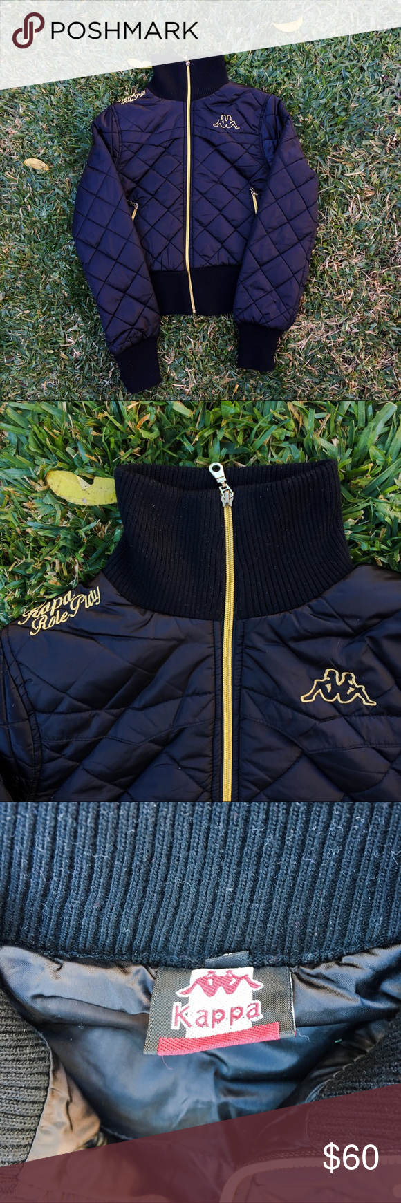 Vintage Kappa Bomber Jacket This Jacket Is In Great Condition Kappa Jackets Coats Puffers Bomber Jacket Jackets Women Shopping [ 1740 x 580 Pixel ]
