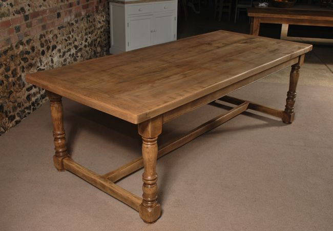 Lovely Rustic Oak Refectory Table   The Oak And Pine Barn, Hampshire