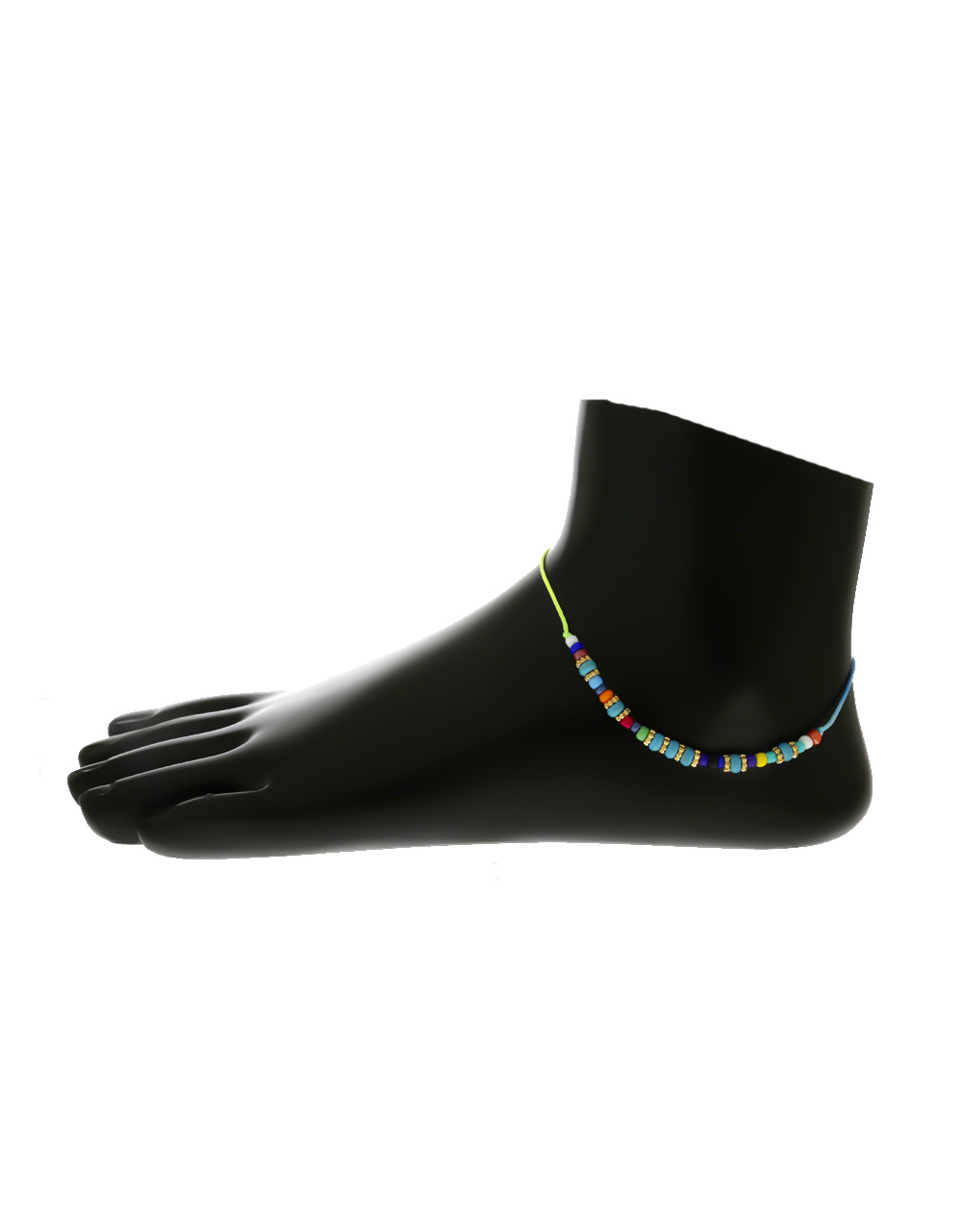 Anuradha Art Silver Finish Designer Styled with Beads Wonderful Anklets//Payal for Women//Girls