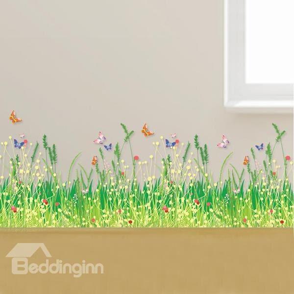 new classic pretty wonderful wild grass wall stickers | nursery