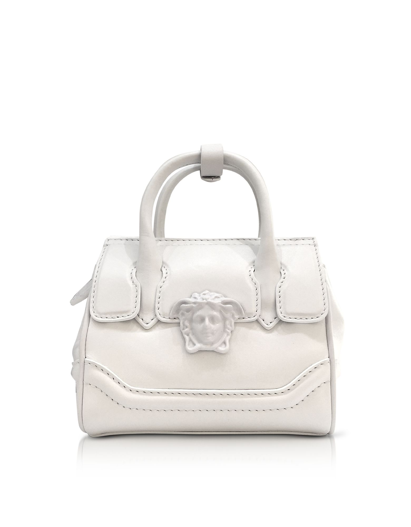 Versace Palazzo Empire White Leather Mini Handbag Bags Shoulder