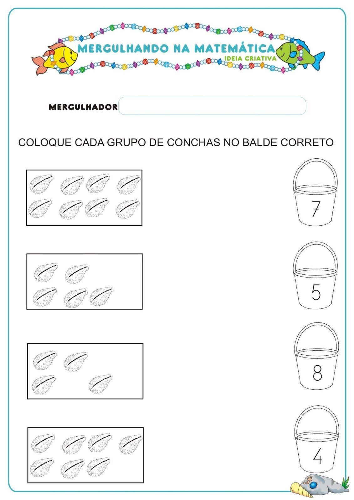 Caderno de Atividades Matemática Projeto no Fundo do Mar grátis para ...