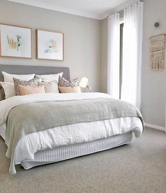Dreamy scandinavian bedroom inspiration my condo deco - Two colour combination for bedroom walls ...