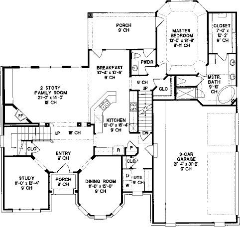 httpwwwallplanscommediadesigners119plans22590houseplan floorplan 1_gif_650x864q85jpg floor plans pinterest house - Country House Floor Plans