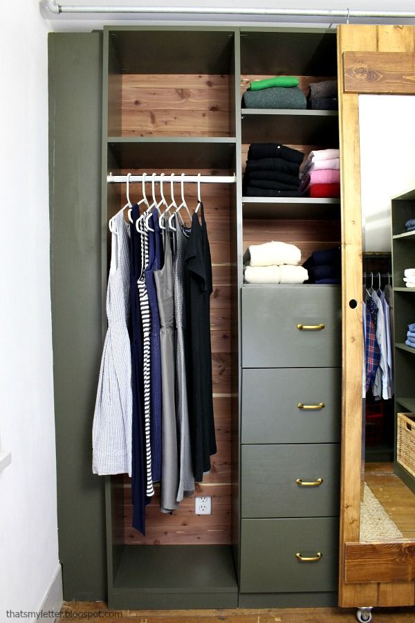 Walk In Closet Makeover Including Built Ins Free Plans
