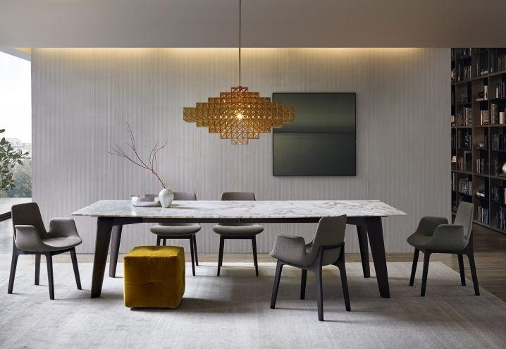 Tavolo renzo ~ Poliform arredi design contemporaneo tavolo howard sedie ventura
