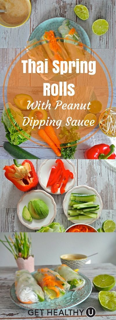 Spring Rolls With Peanut Dipping Sauce Made with simple wholesome ingredients and no MSG, these gluten free thai spring rolls keep well in the fridge for a few days for a healthy snack or brown bag lunch.These Four Walls  These Four Walls may refer to: