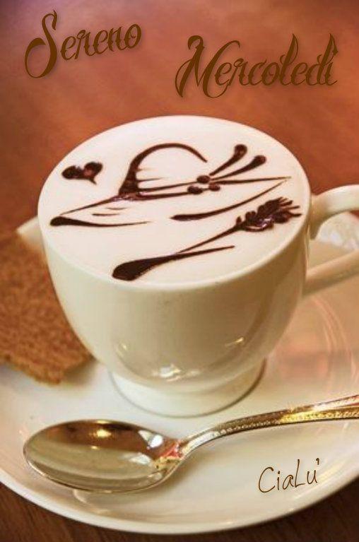 Buon Mercoledì Olasz Lecke Coffee Latte Art Coffee Latte E