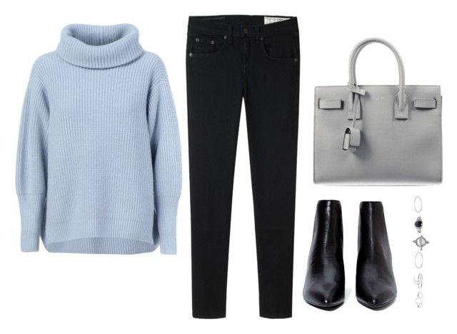 """Untitled #559"" by chvrisse ❤ liked on Polyvore featuring Maison Ullens, Yves Saint Laurent, rag & bone and Wet Seal"
