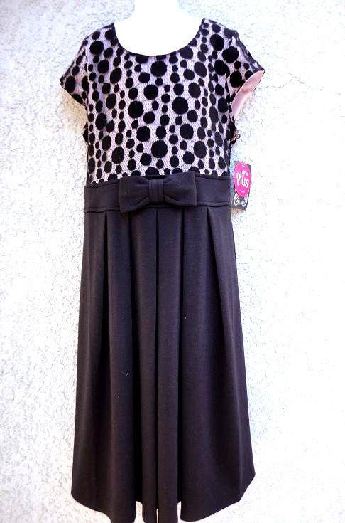 977e578e2d18 DISORDERLY KIDS girls Black   Dots casual everyday dress 16.5 NEW   DisorderlyKids  Everyday