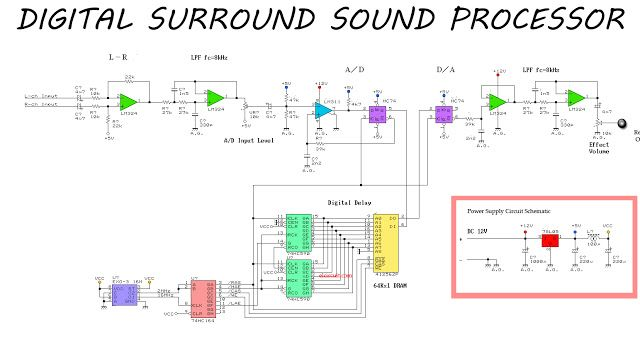 Awesome Simple Surround Sound Processor Circuit In 2019 Pre Amplifier Wiring Digital Resources Remcakbiperorg