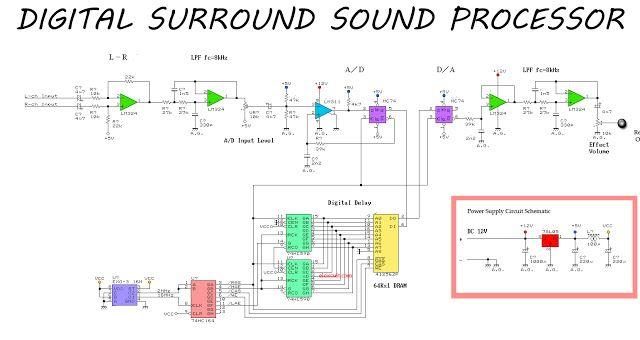 Fine Simple Surround Sound Processor Circuit In 2019 Pre Amplifier Wiring 101 Capemaxxcnl