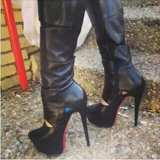 C.B. Boots yes Red Bottoms