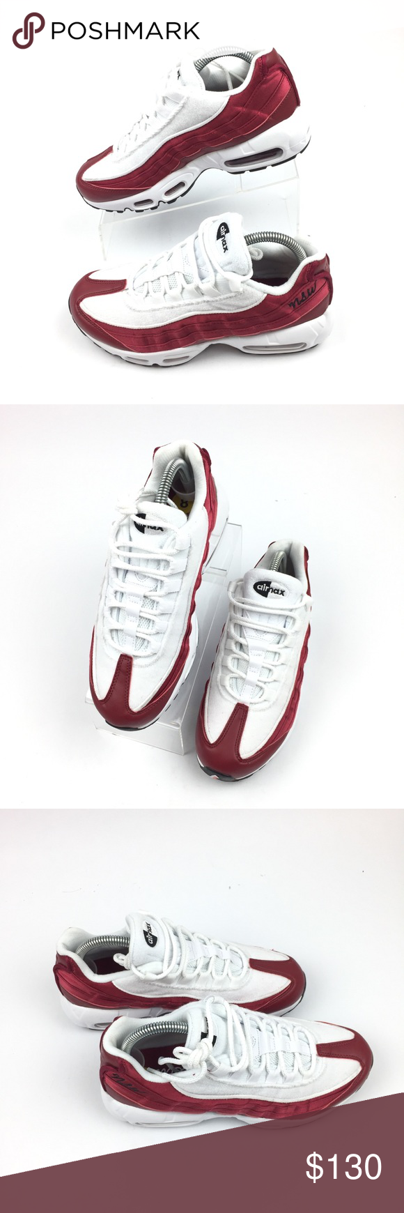 2ec318fc3c Nike Air Max 95 LX Satin Terry Shoes Red Crush Nike Air Max 95 LX Satin