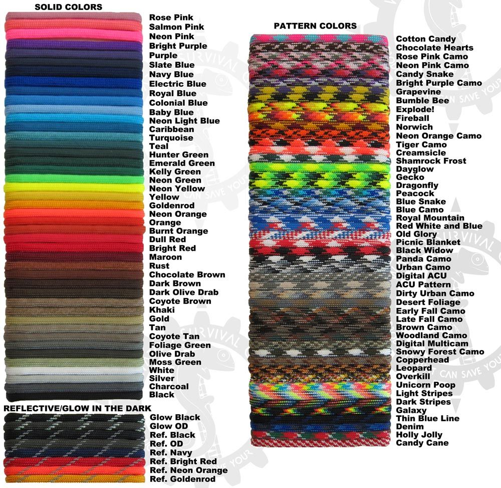 Neon Cotton Candy Paracord 100 Foot 550 lb Bracelet Camping Survival Kit Rope