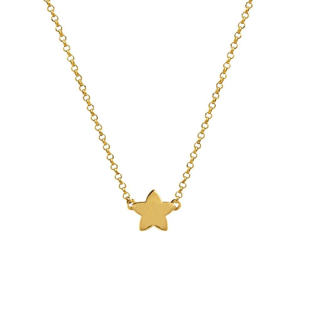 e2dc83370cc4 Cadena con estrella en plata/oro amarillo.Aristocrazy. | Pendientes ...