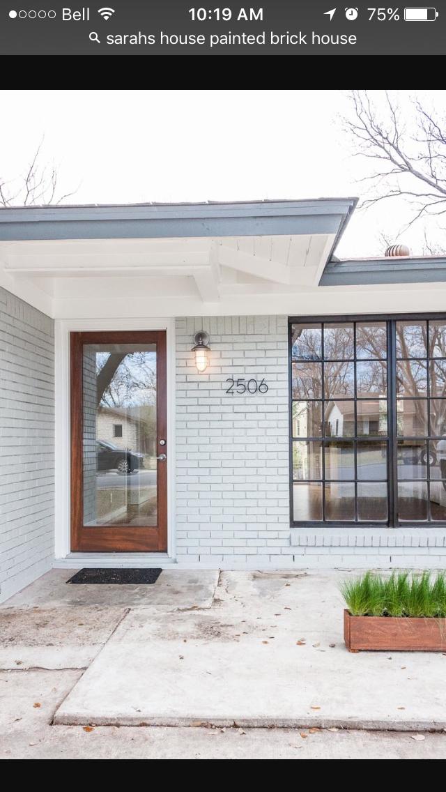 Painted brick | Future home exterior ideas | Pinterest | Bricks ...