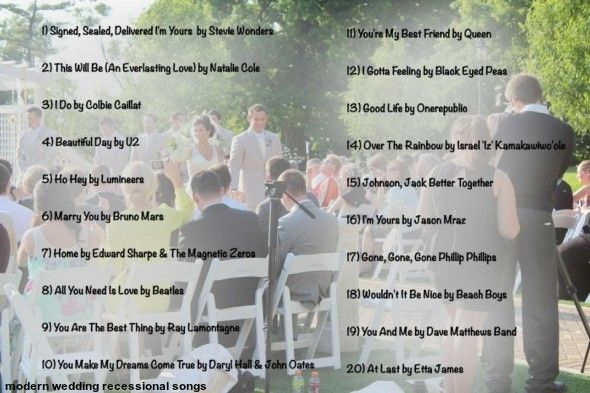 Modern Wedding Recessional Songs Wedding Recessional Songs Wedding Songs Recessional Songs