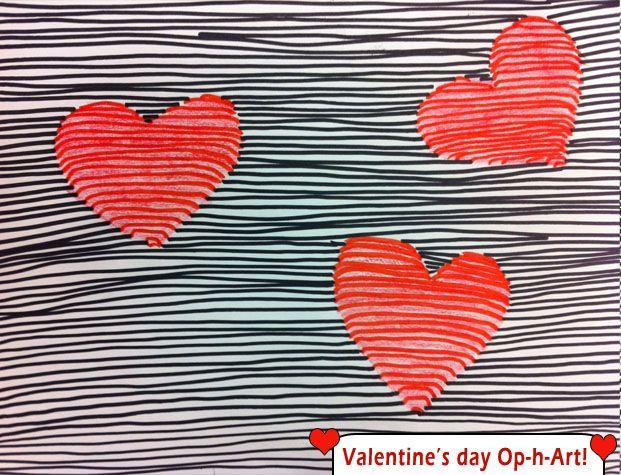 Artisan Des Arts Valentine S Day Op H Art Optical Illusions Grade