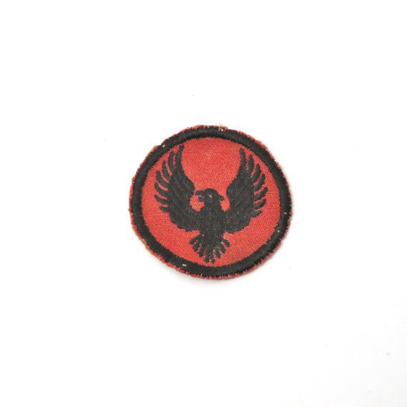 "New Vintage Boy Scout BSA Eagle Patrol Badge Patch Red 2/"""